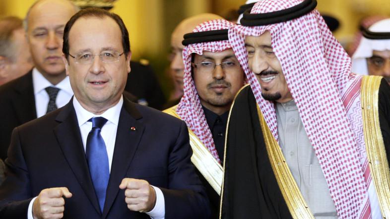 フランス大統領とサウジ皇太子サルマン