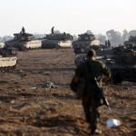 ガザ地区からの街の北と南サイドにパレスチナ飛び地のイスラエルの軍事占領を入力し打ち砕い