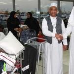 ジェッダ南アフリカ·アブドゥルアジーズ国際空港からの巡礼者の最初のグループは、夕方に達した。