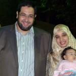 サラと彼女の夫ハリドalqzaz記念写真を寄付