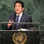国連総会アドレスの年次総会で日本の安倍晋三首相