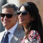 彼の妻アマルAlamuddinとハリウッド俳優ジョージ·クルーニー