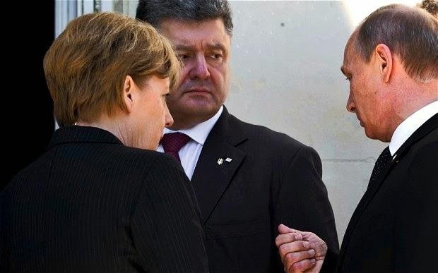 ウクライナペトロ·ポロシェンコの社長1月15日、ロシア大統領、ドイツ首相とフランスの大統領が会う予定
