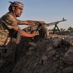 町Kubaniの90パーセントの制御におけるクルドPeshmerga治安部隊