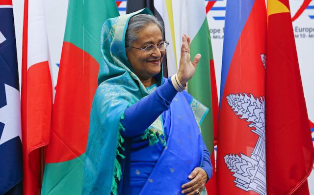 バングラデシュのシェイク·ハシナ首相