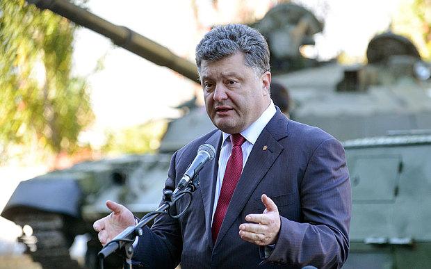 重火器が再び前面に送信する準備ができている、ウクライナの大統領