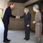 ハリーは、日本の天皇と皇后に会った