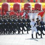 中国の軍は日本の首相のパレードに参加することを拒否