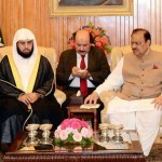 パキスタン大統領マムヌーン·フセインとイマームシェイク·ハリド·アル·ガムディ