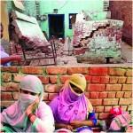 ダウン村の18イスラム教徒の家も焼けました