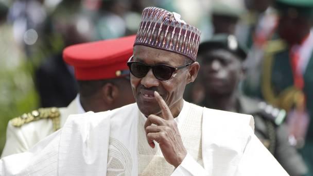 ナイジェリアの大統領ムハンマドブハリ見よ