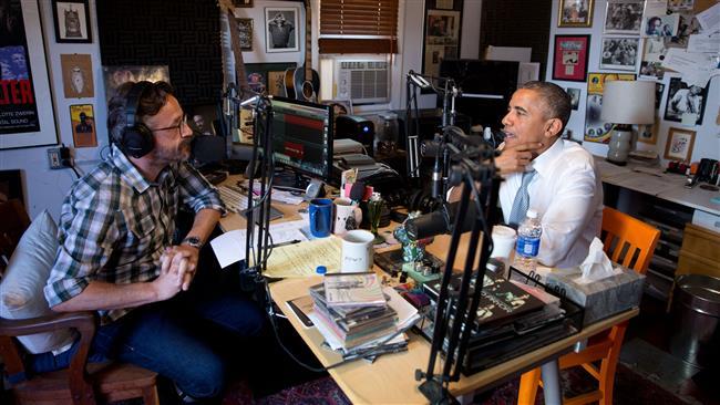 我々は人種差別を克服することができませんでしたプログラムのコメディアンマルクマロンのポッドキャストインタビューバラク·オバマ