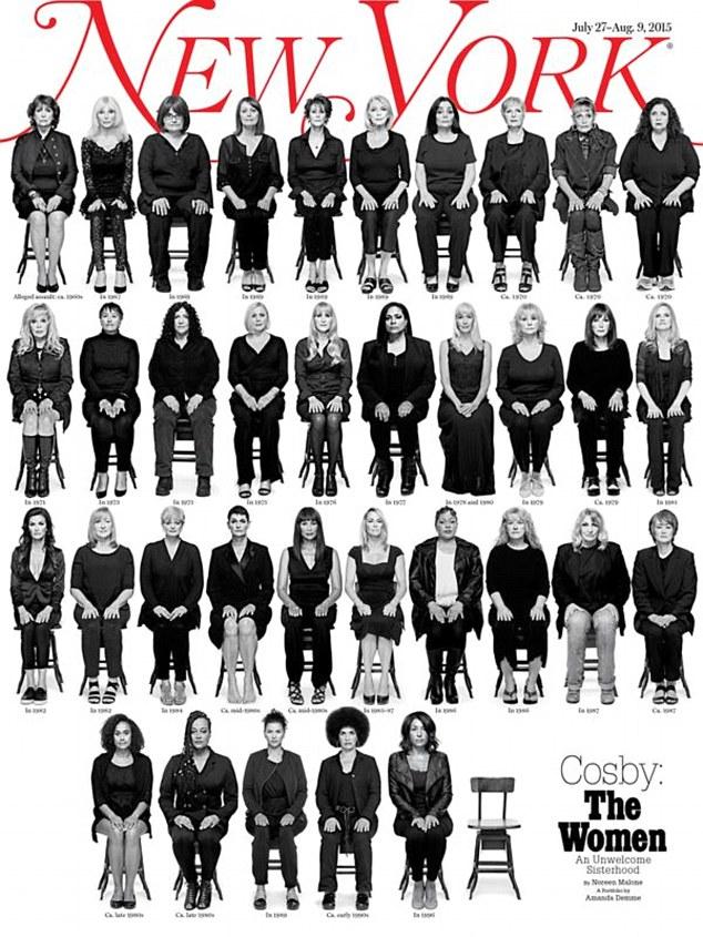 影響を受けた35人の女性の写真の主要なアメリカのコメディアンビル・コスビーの出版物の表紙の雑誌がハッキングの理由です