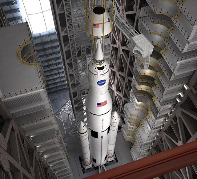2018年、NASAの宇宙打ち上げシステム(S L S)は、仕事は上を開始します