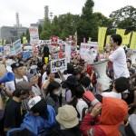 提案されたセキュリティ法案に対する議会外の日本人が、大きなデモに参加しました