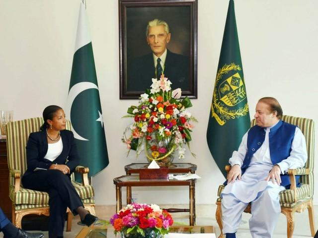 パキスタン首相シャリフと米国の国家安全保障問題担当大統領補佐官スーザン・ライス