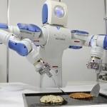 パンケーキマスター料理人は、通常、パンケーキを作るが、今のロボットはそれらを交換します