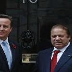 パキスタン首相シャリフと英国首相デヴィッド・キャメロン