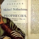 フランスの世界的に有名な専門家の占星術ノストラダムスと彼の最初の本、レPropheties
