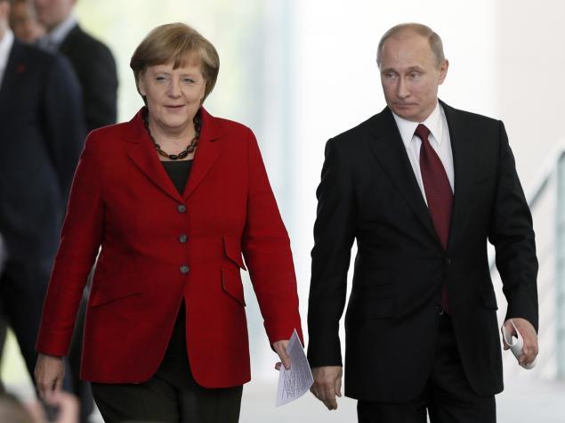 ドイツのメルケル首相とロシアのプーチン大統領