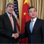 米国務長官ジョン・ケリーと中国外務大臣王毅