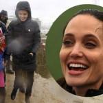 女優アンジェリーナ・ジョリーは、ギリシャの難民キャンプを訪問します
