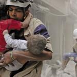 空気は政府軍と反政府勢力はアレッポで、8人の子供を含む少なくとも30人が死亡、打ちます