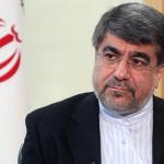 イランの文化大臣とイスラム指導アリJannati