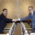 ロシアの外務次官イゴールMorgulovと中国外務次官香港Xuanyou