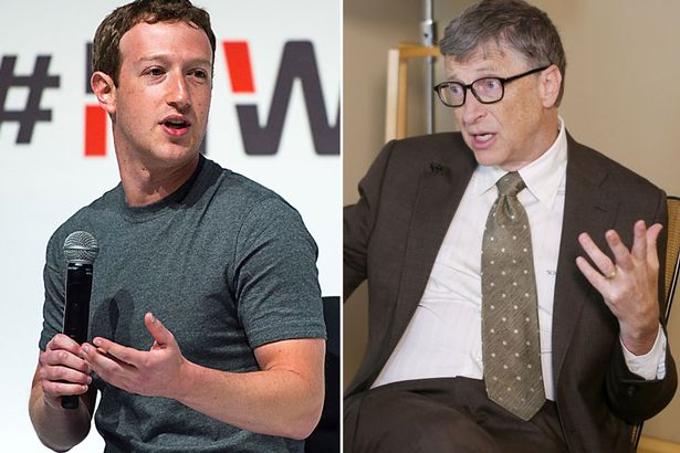 マイクロソフト創業者ビル・ゲイツ氏とFacebookのCEOのMark Zuckerberg