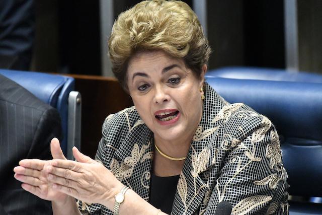ブラジル大統領ジルマ・ルセフの一時停止