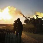 重北部のガザ地区のイスラエルでベイトハヌンの場所を砲撃