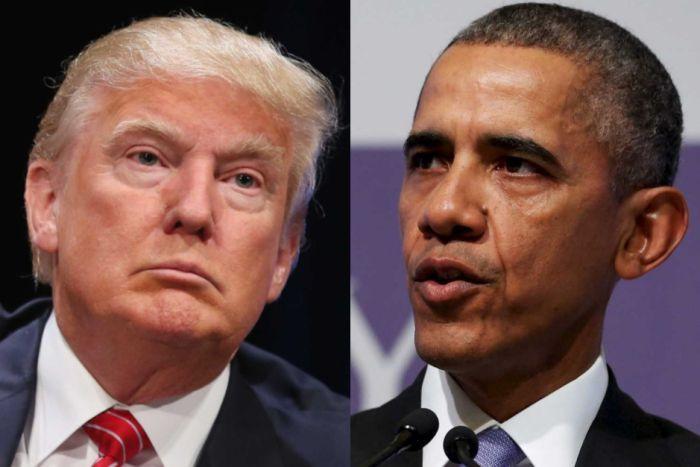 バラク・オバマ米大統領とトランプ