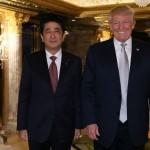 安倍晋三首相は、米国のトランプ・ドナルド幹部と会う。