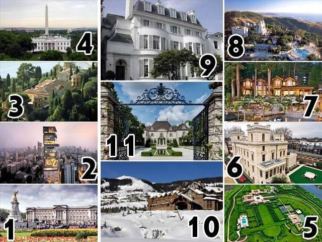 最も高価な11の家とその住民