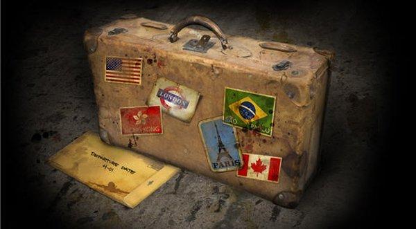 ラテンアメリカ、空のスーツケース