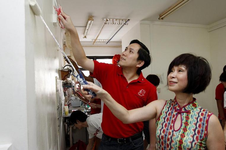 中国の壁の上から家をきれいにする