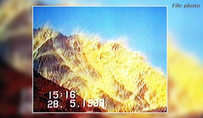 パキスタンは1998年5月28日に初めての核爆発であった