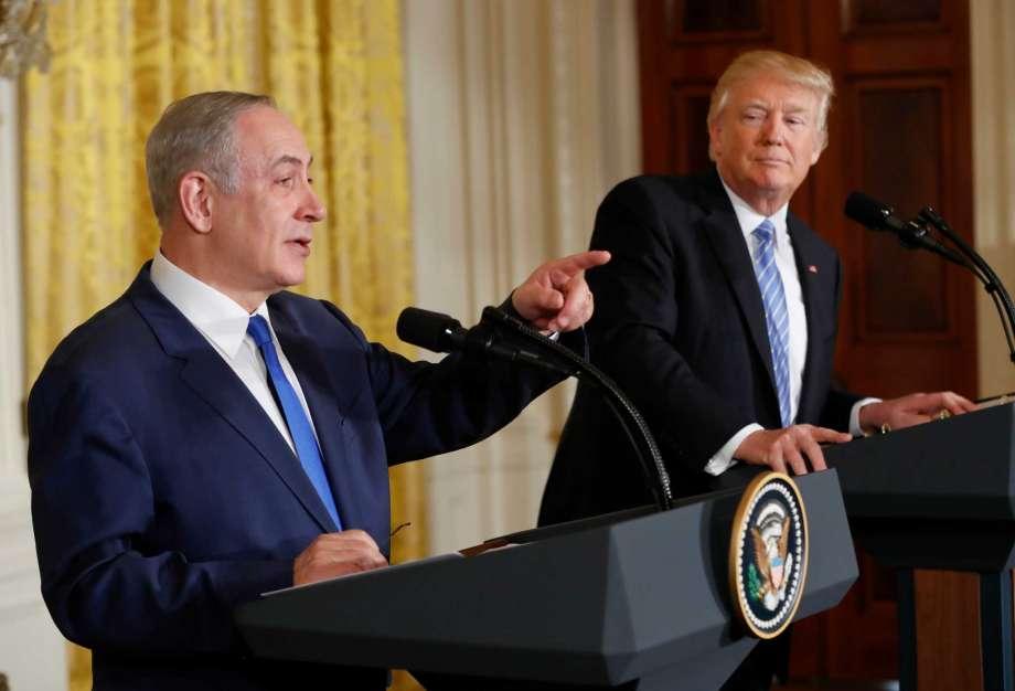 ドナルド・トランプ大統領とイスラエルのベニヤミン・ネタニヤフ首相記者会見