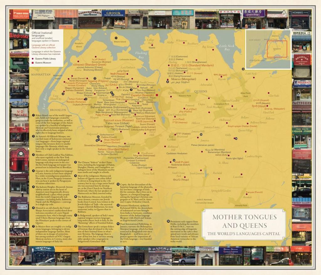 ニューヨークのクイーンズ地区には約800の言語が話されています