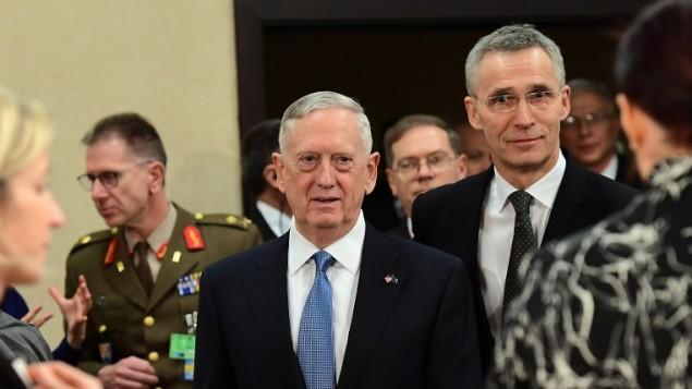 ジェームス・マッティス米国防長官は、NATO本部でのNATO会議