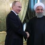 イランのハッサン・ルハニ大統領とウラジミールのプーチン大統領