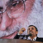 イランの最高指導者、アヤトッラー・アリ・ハメネイ、マフムード・アフマディネジャド大統領