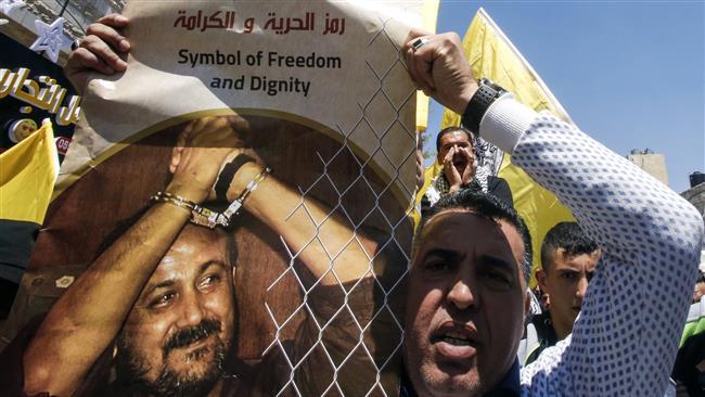 人気のある投獄されたパレスチナ人の指導者Marwan Barghouti