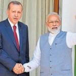 トルコ大統領Recep Tayyip Erdoganとインド総理大臣Narendra Modi