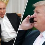 ドナルドトランプ米大統領とプーチン大統領との電話交渉