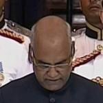ダリットのリーダーRam Nath Kovindがインドの第14代大統領として誓いをかけた