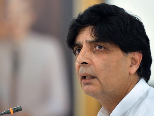 Chaudhry Nisar内務大臣