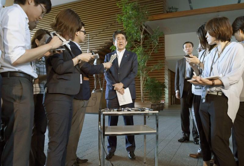 安倍晋三首相がメディアに語った