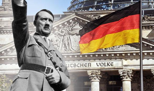 元ドイツの独裁者、アドルフヒトラー様式の敬礼
